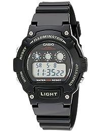Casio Kids w-214hc-1avcf Classic Digital reloj de visualización negro de cuarzo