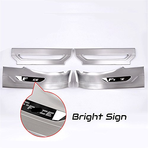 4 Pcs Fit for Jaguar F Pace F-Pace X761 2016 2017 2018 Sliver Door Sill Scuff Plate Guard Sill Protector Trim - Bright Sign by KPGDG