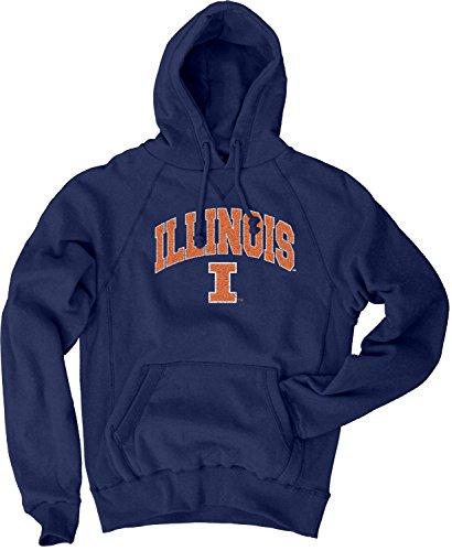(Blue 84 NCAA Illinois Illini Men's Sanded Pullover Hoodie, Navy, Large)