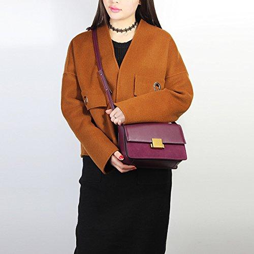 185 main Sac fashion E Sac cuir à en LF Bordeaux bandoulière Girl Sac portés femme épaule fqwSxSEHR