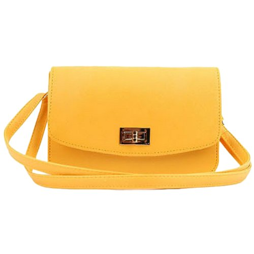 Tom's Ware Women Highest Quality PU Leather Fashion Cross Leather Bag TWY1313-YELLOW
