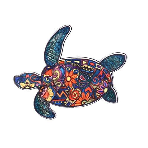 LIUCM Fashion Animals Acrylic Horse Elephant Turtle Brooch Pin Decorations Brooch - Acrylic Brooch