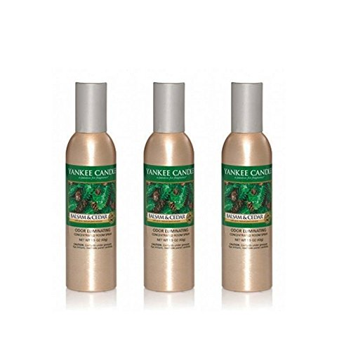 (Lot of 3 Yankee Candle Balsam & Cedar Odor Eliminating Room Spray 1.5 Oz Each)