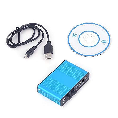 Emily Optical Fiber External 6 Channel 5.1 Audio Output Adapter Sound Card USB SPDIF Black