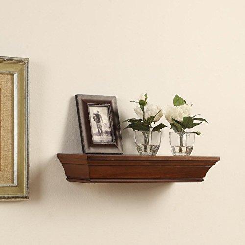 Decorative Wall Shelves, Espresso Finish (36″ length) For Sale