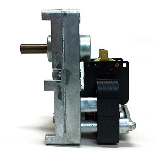 PEMS PV003 Pellet Stove Auger Motor | 120V, 0.51A, 1-RPM, Spade Terminals | Breckwell, Whitfield, Englander, and More.