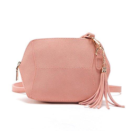 Shoulder Tote Womens Crossbody Hunpta Pink Bags Satchel Hobo Bag Shoulder Leather Crossbody Bag Handbag zfqXH