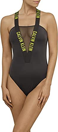 Calvin Klein Women's Intense Power Classic One-Piece Swimsuit, Black, X-Small