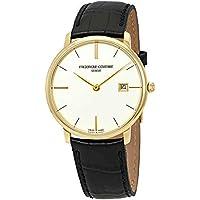 Frederique Constant Slimline White Dial Leather Strap Men's Watch FC220bRS5S5