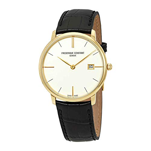 Frederique Constant Slimline White Dial Leather Strap Men's Watch FC220bRS5S5