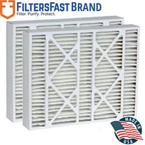 Actual Size: 15-3//8 x 25-1//2 x 5-1//4 Filters Fast Compatible Replacement for Amana M1-1056 MERV 11 Air Filter 2-Pack-16 x 25 x 5