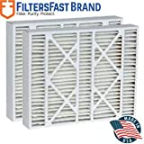 """FiltersFast Compatible Replacement for York M0-1056 MERV 11 Air Filter 2-Pack-16x22x5 (Actual Size: 15-3/8"""" x 21-7/8"""" x 5-1/4"""")"""