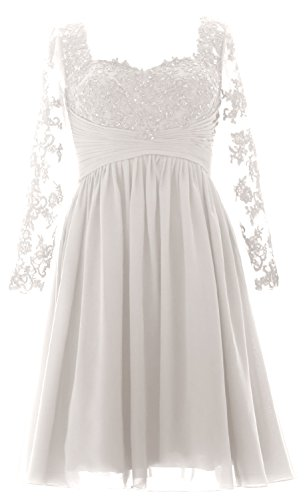 Bride Of Mother Formal Lace Sleeves Ivory Midi Gown Long Evening Dress Women Macloth qz8xavw