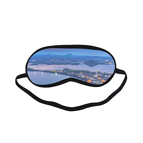 All Polyester Korea Jeju Island City Free Travel Romantic Sleeping Eye Masks&Blindfold by Simple Health with Elastic Strap&Headband for Adult Girls Kids and for Home Travel