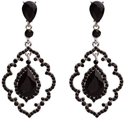 MEEOI exageración de la moda Ear Stud Earrings Ear Hoop 925 de plata esterlina para mujer, piedras preciosas y piedras preciosas de época Pendientes de aleación hueca