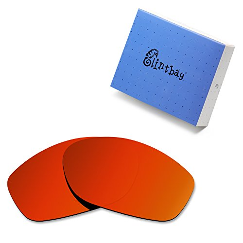 Glintbay 100% Precise-Fit Replacement Sunglass Lenses for Costa Del Mar Fisch - Polarized Fire Red Mirror (Fisch Replacement Lenses)