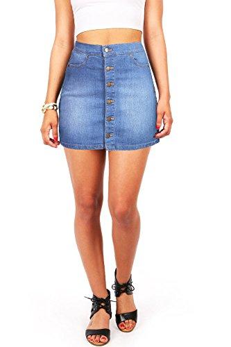 Button Front Denim Skirt: Amazon.com