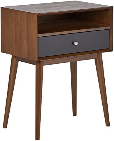 Amazon Brand Rivet Mid-Century Modern Wood Media TV Console Table, 47 W, Walnut Black