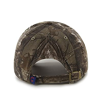 MLB Chicago Cubs Clean Up Adjustable Hat, One Size, Realtree Camouflage