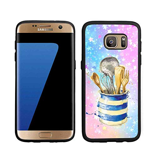Shine Black Kitchenware Phone Case Fit for Samsung Galaxy S7 Bumper Slim Shockproof Scratch?Proof Protective Cover