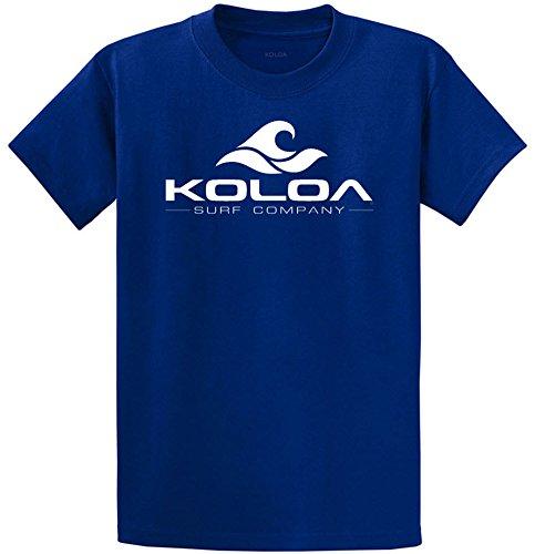Koloa Surf Co(tm) Classic Wave Logo Cotton T-Shirts-Large,Deep (Blue Logo Cotton T-shirt)