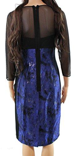 Rickie Freeman Teri Jon Black Women's Sheath Dress Blue 16