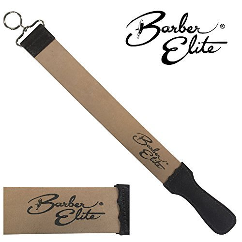 - Barber Elite Genuine Leather Sharpening and Honing Strop 19.75