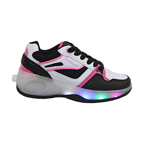 SDSPEED Kids Roller Skates Shoes Girls Boys Roller Shoes Wheel Shoes Roller Sneakers Shoes with Wheels LED & Non-LED ()