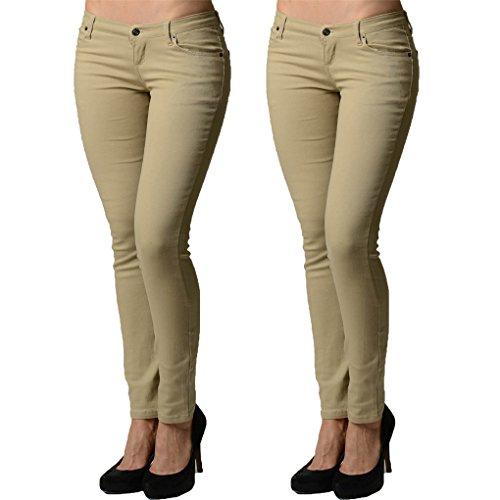 Dinamit Jeans Juniors 5 Pocket Skinny Uniform Pant - 3 Junior Size