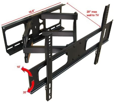 Impact Mounts Dual Arm Articulating Full Motion Lcd Led Plasma Tv Wall Mount Bracket FITS MOST SCREEN SIZES 32 – 70