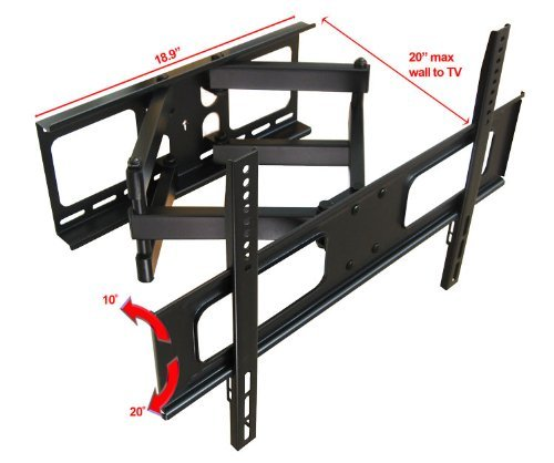 Impact Mounts Dual Arm Articulating Full Motion Lcd Led Plasma Tv Wall Mount Bracket FITS MOST SCREEN SIZES 32