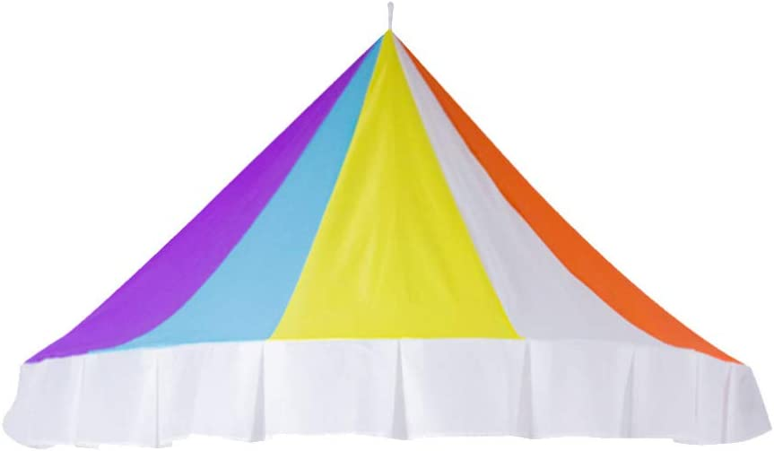 Vosarea Rainbow Bed Canopy Half-Round Dome Reading Corner Tent Decorative Mosquito Net for Toddlers -1.2m