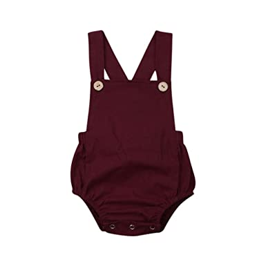 Botones de bebé Mameluco sin Mangas Traje de algodón Sin ...