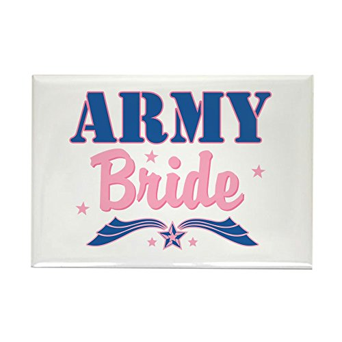 CafePress Star Army Bride Rectangle Magnet, 2