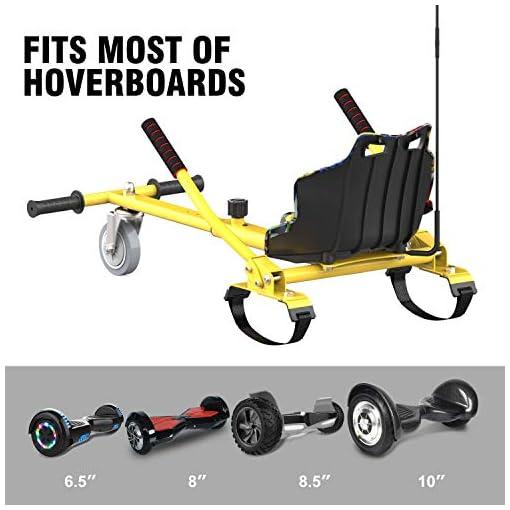 CITYSPORTS Hoverkart pour Hoverboard, Longueur Réglable, Rend Votre Hoverboard Plus en Sécurité, Karting Idéal pour Les Enfants (Hiphop)