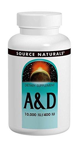 Source Naturals Vitamin A & D 10,000 A + 400 D 100 tabs