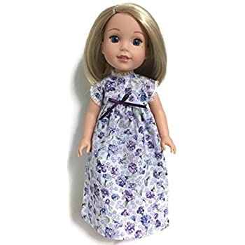 Blue Star Nightgown Fits 14 Inch American Girl Wellie Wishers Doll Clothes