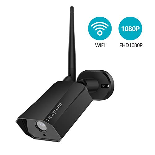NexTrend WiFi Outdoor Camera Wireless 1080P HD IP Security Camera IP66 Waterproof Infrared Night Vision Motion Detection Remote Viewing Compatible with iOS/Android Systems - Weatherproof Bullet Micro Camera