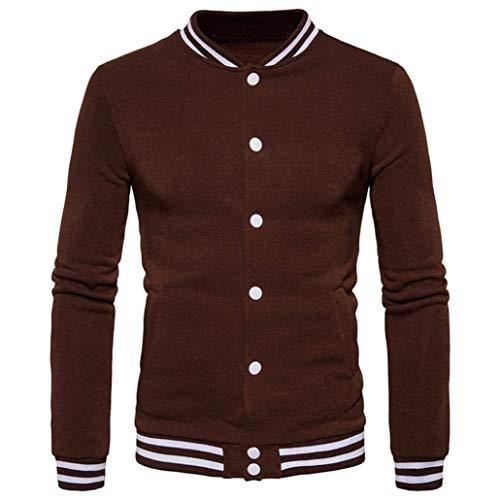 Collare Cappotto Laterale Manicotto Kaffee Tuta Baseball Singolo Sportiva Sudore Huixin Lungo Giacca Abbigliamento Basamento Tasche Mens F8nwFqXxr