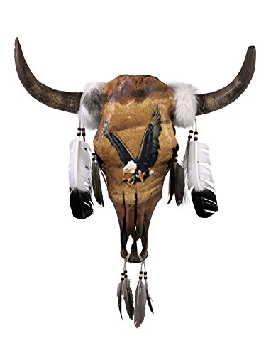 El Paso Designs Hand Painted Cow Skulls, Southwest Wall Home Decor (Preying Eagle)