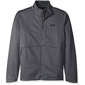 Under Armour Men's Storm Softershell Jacket, Rhino Gray/Black, Large