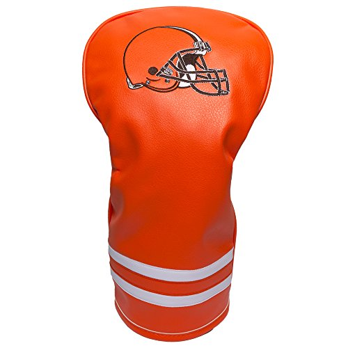 Team Golf NFL Cleveland Browns Vintage Driver Golf Club Headcover, Form Fitting Design, Retro Design & Superb Embroidery