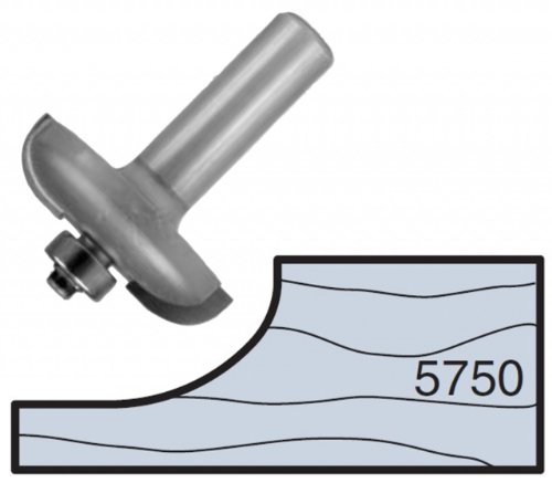 Whiteside Router Bits 5750 Miniature Raised Panel Bit with 1-3/4-Inch Large Diameter and 1/2-Inch Shank