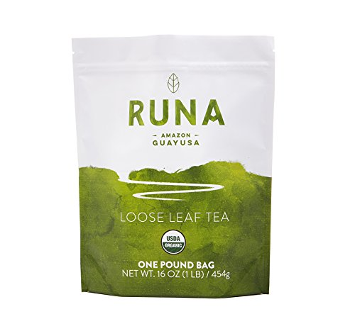 RUNA Organic Guayusa Tea - Packed with Natural Caffeine for Clean Energy - Antioxidant Rich Alternative to Yerba Mate, Coca Leaves, and Green Tea Matcha - Loose Leaf (1 Pound, 16 oz)