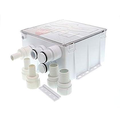 Image of Blinds & Accessories Rule Industries White Standard 98B Shower Drain Kit 800 GPH 12V