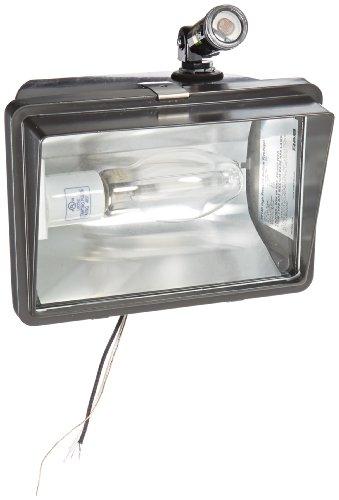 RAB Lighting FF150/PCS High Pressure Sodium HID Future Floodlight, ED17 Type, Aluminum, 150W Power, 16000 Lumens, 120V Swivel Photocell, Bronze Color - Light Swivel Floodlight