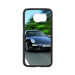 Samsung Galaxy S6 Case,2011 Black Porsche 911 Black Edition Tpu Back Cover Case,Ultra Slim Cover Case,Scratchproof Dustproof Anti-Slip