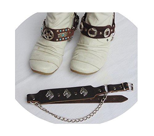 1 Paar Stiefelbänder Stiefelband bootstraps Western Stiefelschmuck braun Cowboy (05)