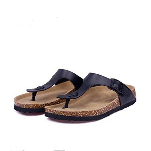 Flip Buckle Sandals 12 Strap Cork Casual Flop Women's Sandals T Thong YaMiFan Pwq7TpW0