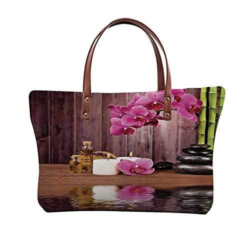 (Spa Decor Stylish Print Top Handle Bags,for Women,15.3
